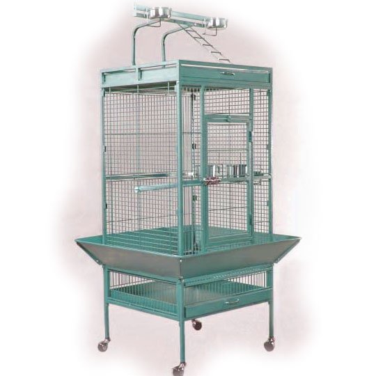 Bird Cage for Tiels / Parrots 24x20x60 in. / Color (Speckled Sage) Best Price