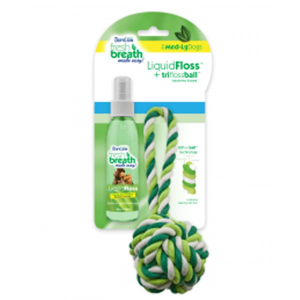 Fresh Breath Liquidfloss Triflossball Med Large Dogs