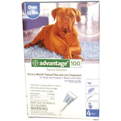 Advantage 2 Dog Blue - over 55 lbs / 4 pk Best Price