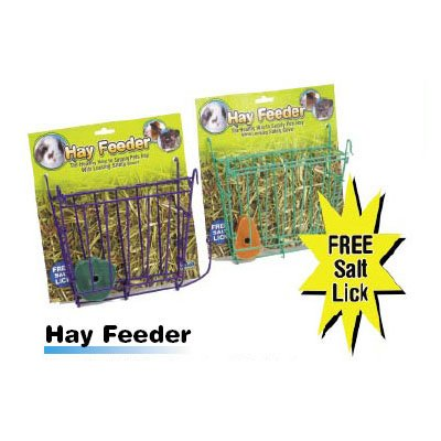 Hay Feeder With Free Salt Lick For Small Pets