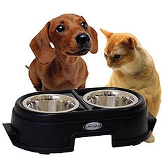 Healthy Pet Diner Elevated Feeder / Size (4 in Black) Best Price