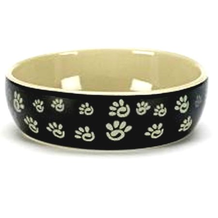 Designer Paw Print Cat Dish 5 In.