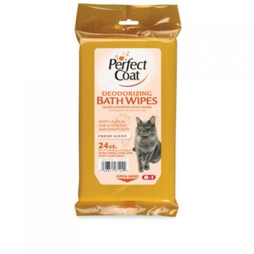 Perfect Coat Cat Bath Wipes- 24 pk Best Price