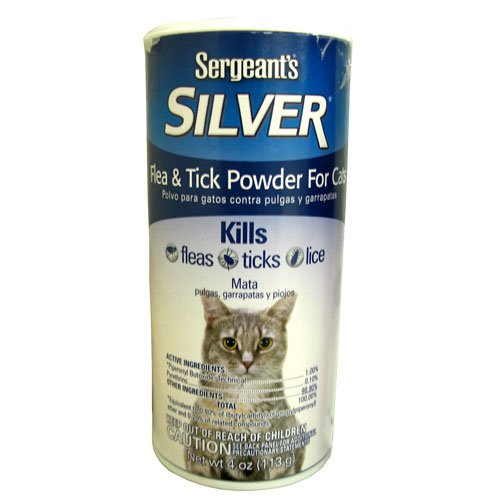 Sergeant Silver Flea and Tick Powder for Cats 4 oz Best Price