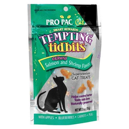 Cat Tempting Tidbits Crunchy Salmon and Shrimp Flavor - 3 oz. Best Price
