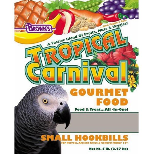 Tropical Carnival For Small Hookbill 5 Lbs