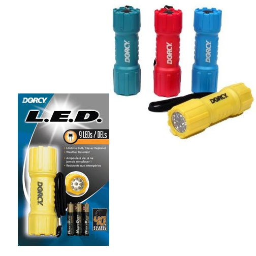 9 LED Travel Flashlight 5MM with 3AAA Batteries Best Price