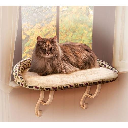 Kitty Sill Deluxe Cat Window Seat with Bolster Cat
