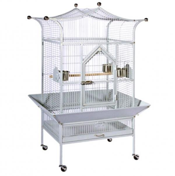 Royalty Bird Cage - 27x21x58.5 / Pewter Best Price