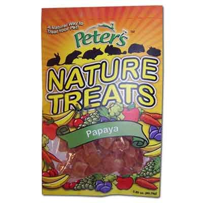 Peters Nature Treats Papaya Pieces Small Animal Treats 2.85 Oz.