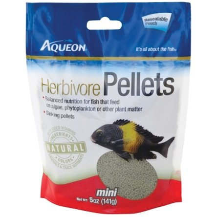 Aqueon Cichlid Herbivore Pellets 5 oz. Best Price