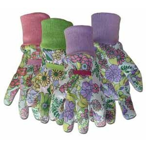 Floral Cotton with Reinforced Fingertips Ladies Gloves (Case of 12) Best Price