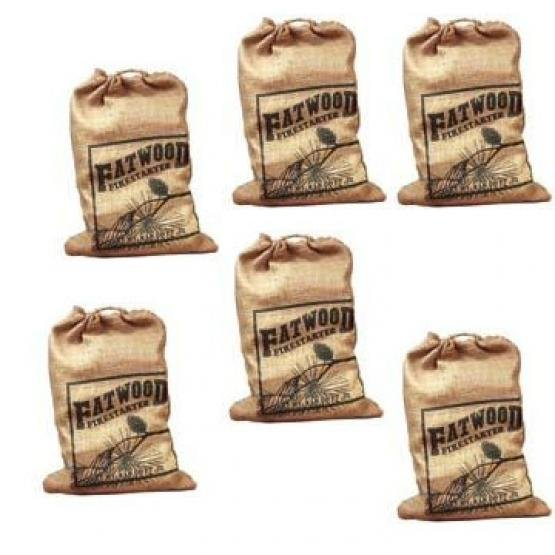 Fatwood Burlap Bag 8 lbs ea. (Case of 6) Best Price