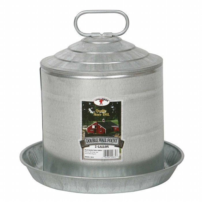 Galvanized Double Wall Fountains / Size (2 gallon) Best Price