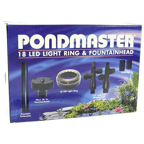 18 Led Ring With Fountainhead For Ponds