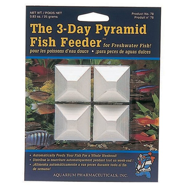 3 Day Fish Feeder Pyramid 4 Ct.