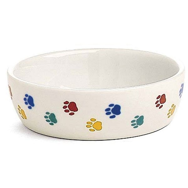 Ceramic Cat Dish - PawPrint - 5.25 in Best Price