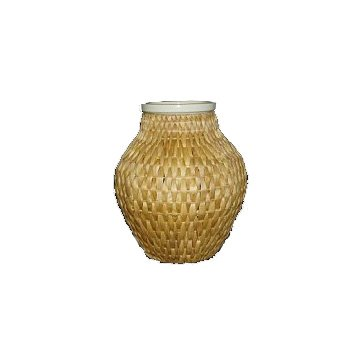 Patio Pond Wicker Urn With White Led Light Best Price