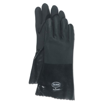 High n Dry Gauntlet Black PVC Gloves for Men  (Case of 12) Best Price