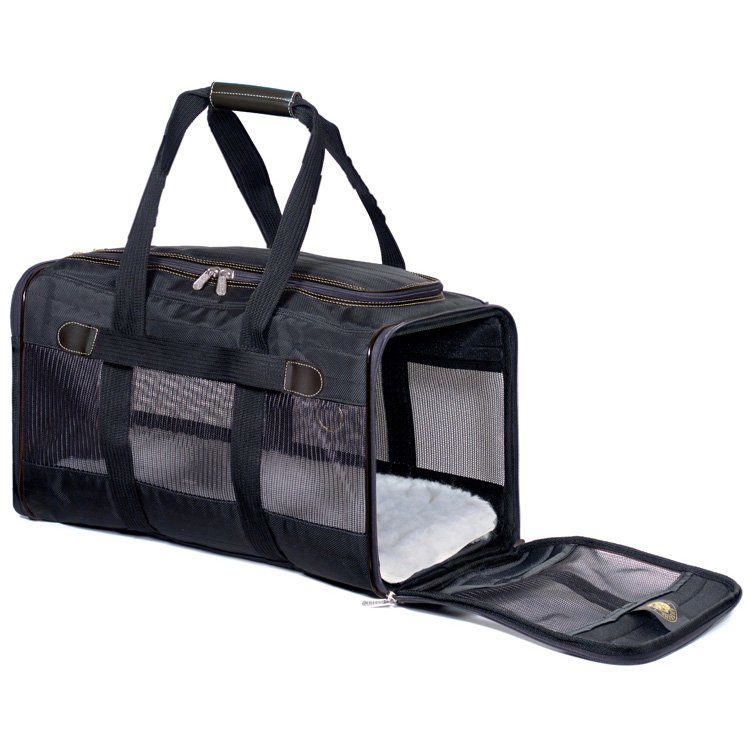 Air Lines Carry On Deluxe Pet Carrier / Size Large Black