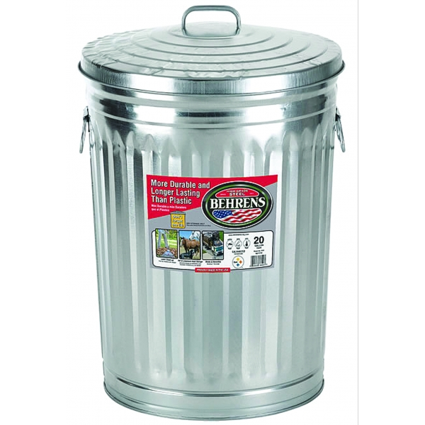 Galv Steel Utility Can W/lid (Case of 6) Best Price