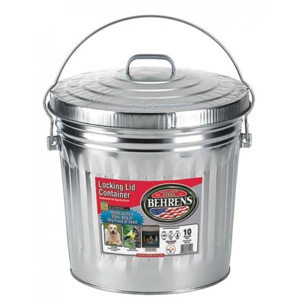 Galvanized Steel Locking Lid Only 10 gallon (Case of 6) Best Price