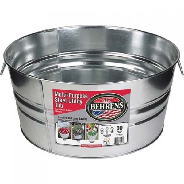 Galvanized Steel Round Tub / Size (14 gallon) Best Price