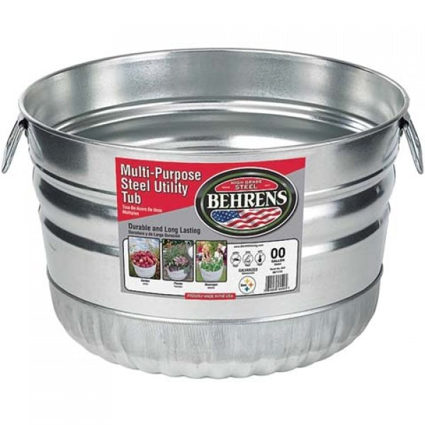 Galvanized Steel Utility Basket - 1 Bushel Best Price