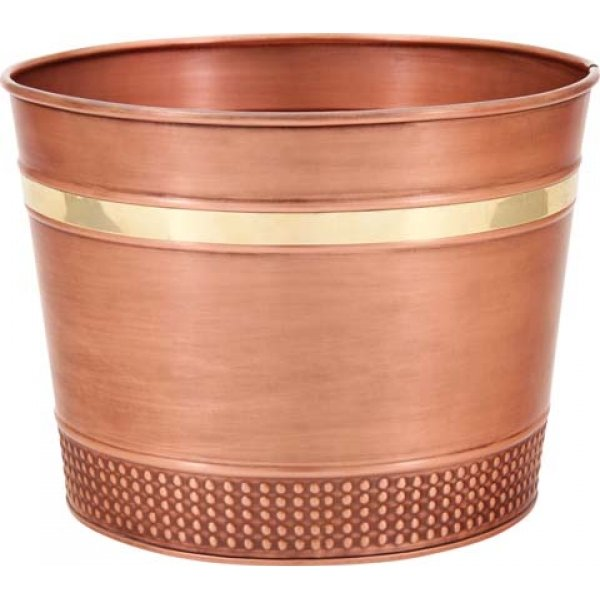 Decorative  Copper  Round Planter / Size (1 Gallon) Best Price