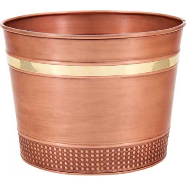 Decorative  Copper  Round Planter / Size (4 Gallon) Best Price