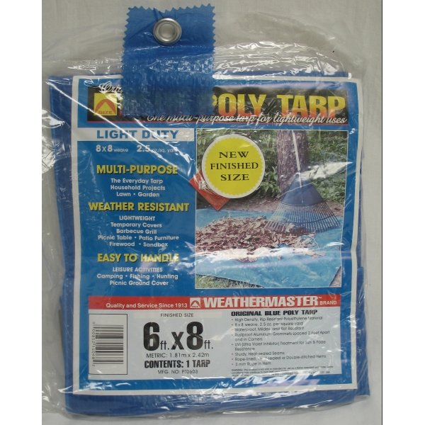 Blue Poly Tarp / Size (6 x 8 ft) Best Price