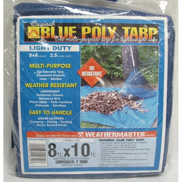 Blue Poly Tarp / Size (8 x 10 ft) Best Price