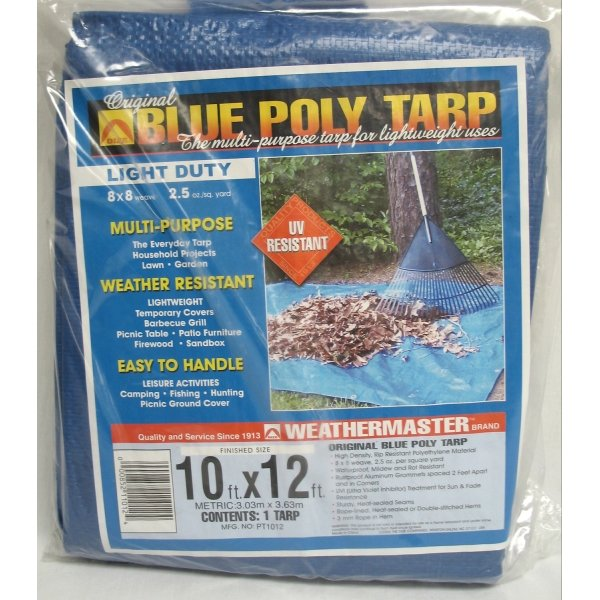 Blue Poly Tarp / Size (10 x 12 ft) Best Price