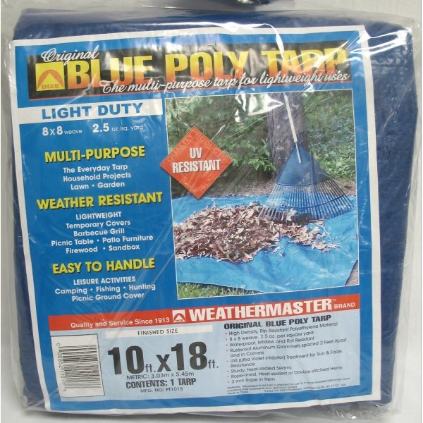 Blue Poly Tarp / Size (10 x 18 ft) Best Price