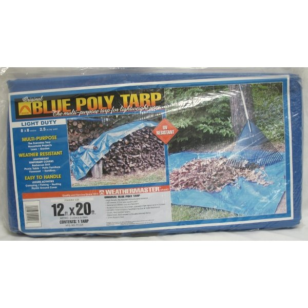 Blue Poly Tarp / Size (12 x 20 ft) Best Price
