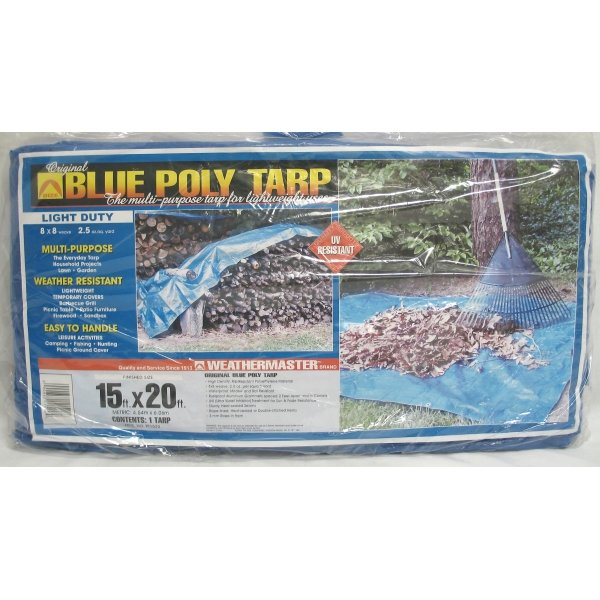 Blue Poly Tarp / Size (15 x 20 ft) Best Price
