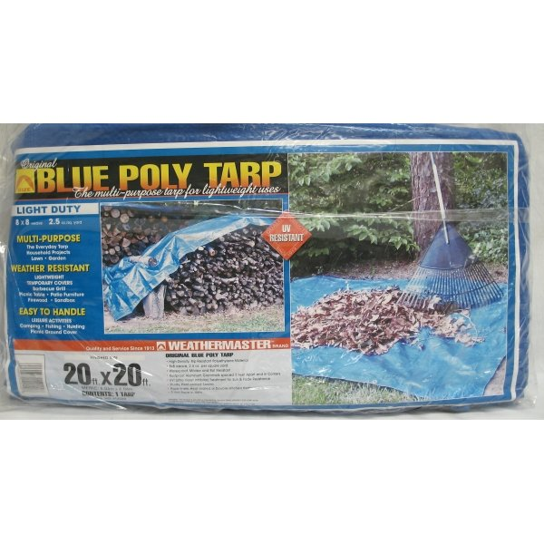 Blue Poly Tarp / Size (20 x 20 ft) Best Price