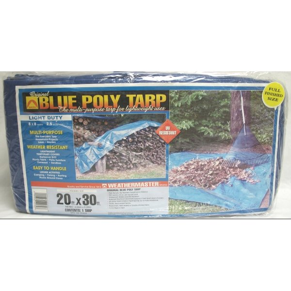 Blue Poly Tarp / Size (20 x 30 ft) Best Price