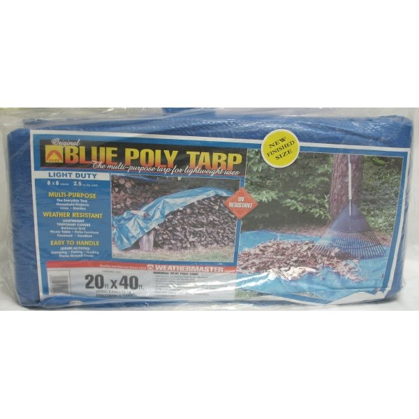 Blue Poly Tarp / Size (20 x 44 ft) Best Price