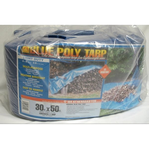 Blue Poly Tarp / Size (30 x 50 ft) Best Price