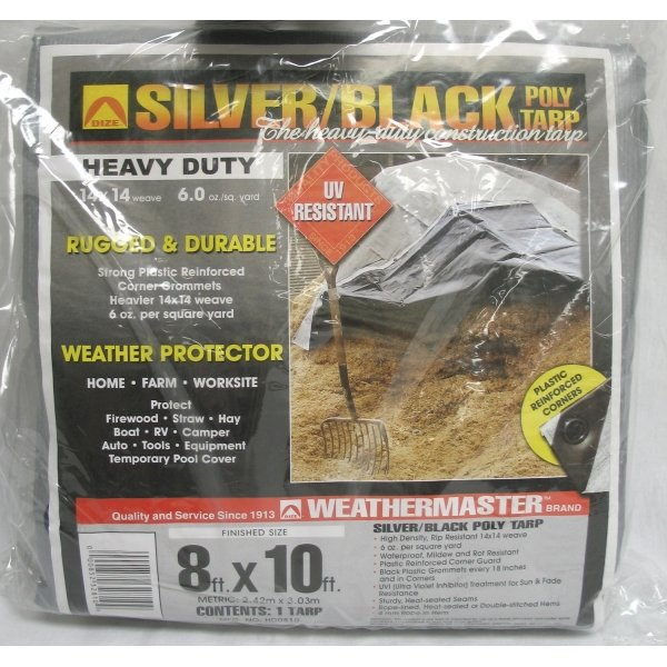 Black/Silver Reversible Poly Tarp / Size (8 x 10 ft) Best Price