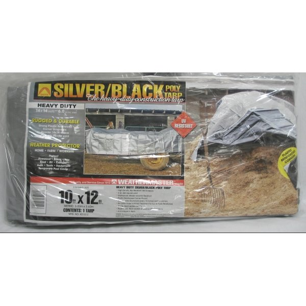 Black/Silver Reversible Poly Tarp / Size (10 x 12 ft) Best Price