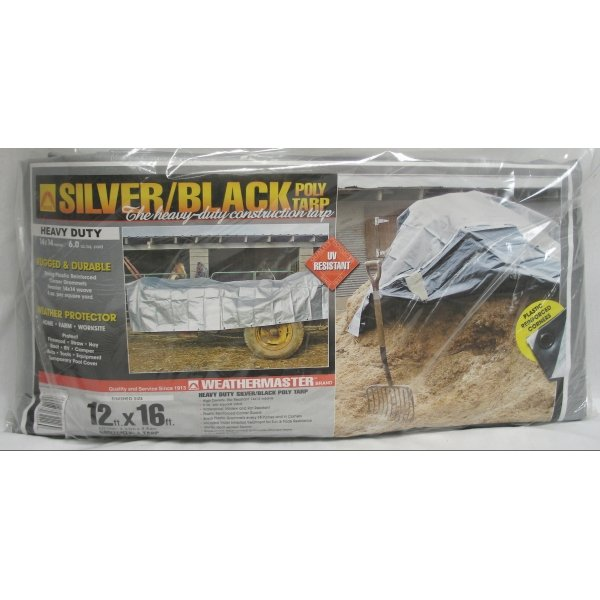 Black/Silver Reversible Poly Tarp / Size (12 x 16 ft) Best Price
