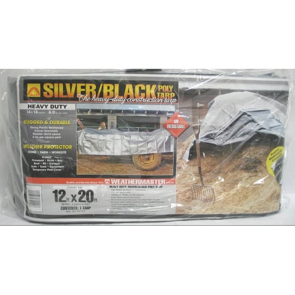 Black/Silver Reversible Poly Tarp / Size (12 x 20 ft) Best Price