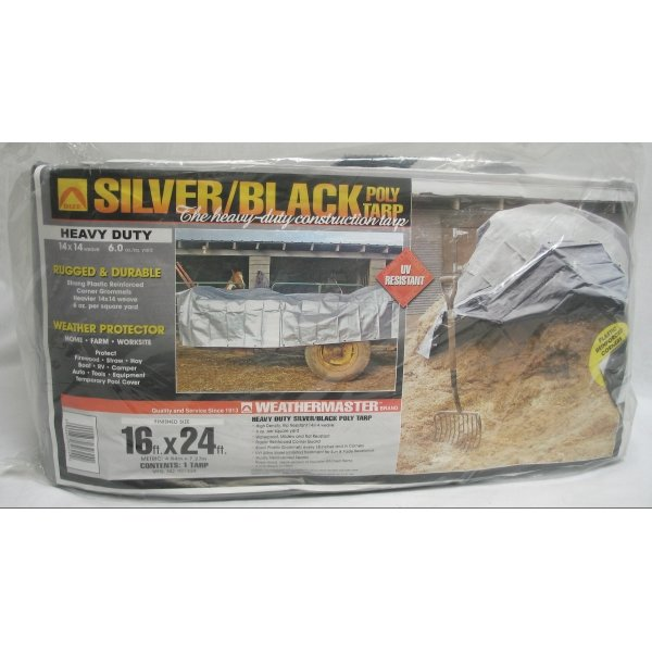 Black/Silver Reversible Poly Tarp / Size (16 x 24 ft) Best Price