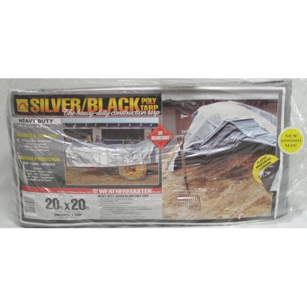 Black/Silver Reversible Poly Tarp / Size (20 x 20 ft) Best Price