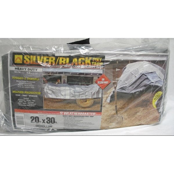 Black/Silver Reversible Poly Tarp / Size (20 x 30 ft) Best Price