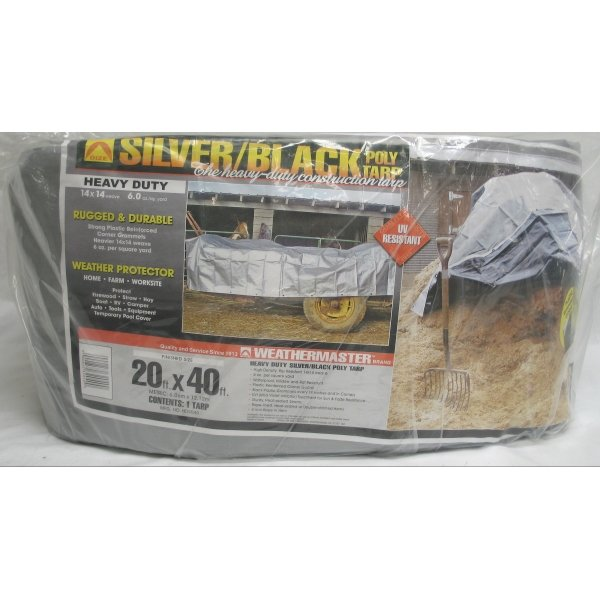 Black/Silver Reversible Poly Tarp / Size (20 x 40 ft) Best Price