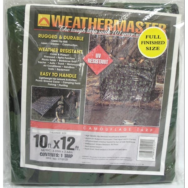Camouflage Poly Tarp / Size (10 x 12 ft) Best Price