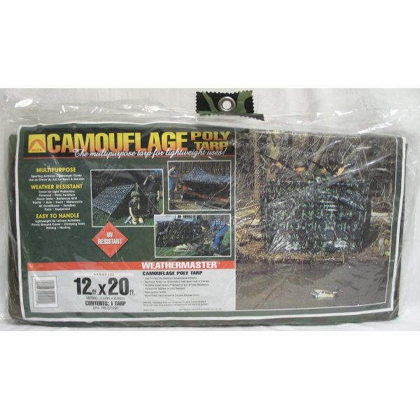 Camouflage Poly Tarp / Size (12 x 20 ft) Best Price